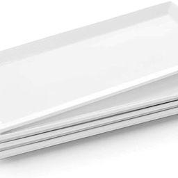 Krockery Large Porcelain Serving Platters, White Plates, Rectangular Serving Trays for Parties, -...   Amazon (US)