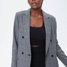 Glen Plaid Double-Breasted Blazer   Forever 21 (US)