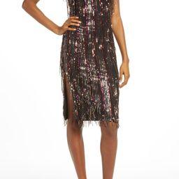 Yvonne Sequin Fringe Midi Dress | Nordstrom