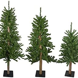 Northlight Set of 3 Alpine Artificial Christmas Trees 3', 4'and 5'- Unlit   Amazon (US)
