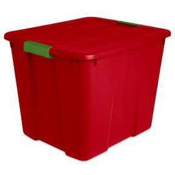 Sterilite 20gal Latching Tote Red with Green Latch | Target