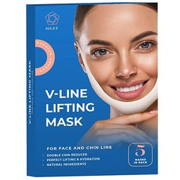 V Line Mask Double Chin Reducer Strap Face Lifting Slimming Nake Contour Tightening Firming Tape ... | Amazon (US)