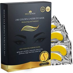 BrightJungle Under Eye Collagen Patch, 24K Gold Anti-Aging Mask, Pads for Puffy Eyes & Bags, Dark... | Amazon (US)