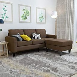 Mecor Modern Convertible Sectional Sofa Couch w/Reversible Chaise Linen Fabric L-Shaped Couch w/T...   Amazon (US)