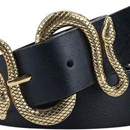 Belts for Women,Women Fashion Leather Belt for Dress with Snake Belt Buckle   Amazon (US)