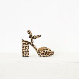 Edita Leopard Print Platform Sandals | French Connection (UK)