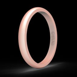 Elements Classic Halo Silicone Ring - Rose Gold   Enso Rings