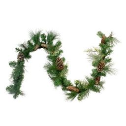 """Northlight 6' x 14"""" Mixed Pine and Glitter Pine Cones Christmas Garland - Unlit   Target"""