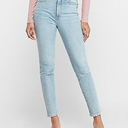 Super High Waisted Light Wash Slim Ankle Jeans, Women's Size:16 Petite   Express