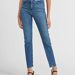 High Waisted Medium Wash Slim Jeans   Express