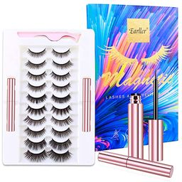EARLLER Reusable Magnetic Eyelashes with Eyeliner Kit,10 Pairs Natural Look False Lashes with App...   Amazon (US)