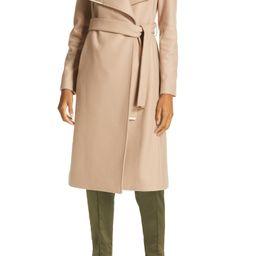 Rose Wool & Cashmere Blend Wrap Coat | Nordstrom