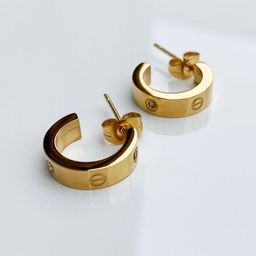 Designer inspired Women's Luxury Love Screw Earrings With Few Stones - Gold -  Wedding, Birthday/...   Etsy (US)