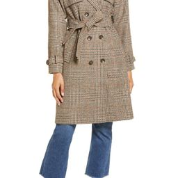 Plaid Trench Coat   Nordstrom