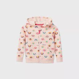 Toddler Girls' Printed Fleece Zip-Up Sweatshirt - Cat & Jack™ | Target