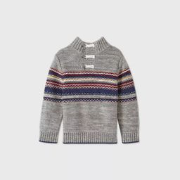 Toddler Boys' Handstitched Toggle Button Pullover Sweater - Cat & Jack™ Gray | Target