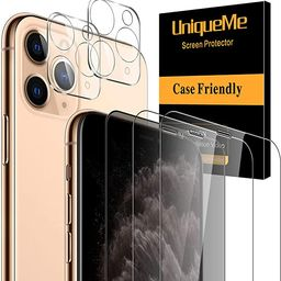 [5 Pack] UniqueMe 1 Pack Tempered Glass Privacy Screen Protector +2 Pack Clear Screen Protector+2... | Amazon (US)