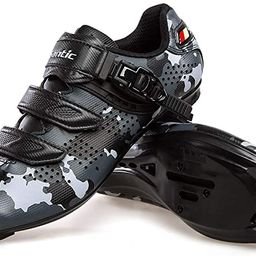 Santic Cycling Shoes Road Bike Shoes Spin Shoes with Buckle | Amazon (US)