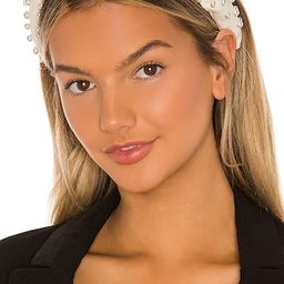 Woven Pearl Headband in Ivory   Revolve Clothing (Global)