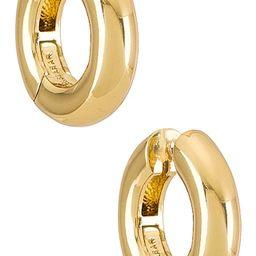 Dalilah Huggie Hoops in Gold   Revolve Clothing (Global)