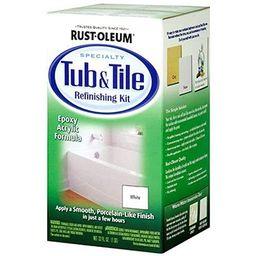 Rust-Oleum 7860519 Tub and Tile Refinishing 2-Part Kit, White 2 Pack   Amazon (US)