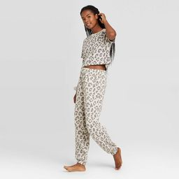 Women's T-Shirt and Fleece Joggers Pajama Set with Scrunchie - Colsie™ | Target