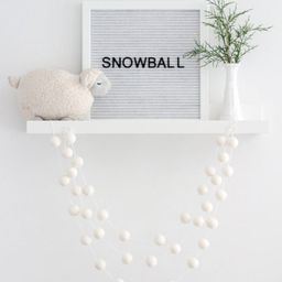 White Wool Felt Ball Garland- Nordic Christmas- White Pom Pom Garland- Winter Decoration- White o... | Etsy (US)