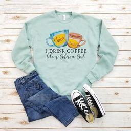 I Drink Coffee Like a Gilmore Girl Sweatshirt  Gilmore Girls | Etsy | Etsy (US)