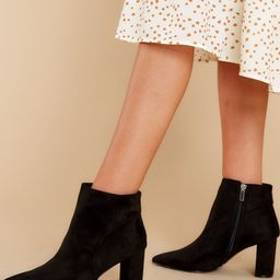 Make It Here Black Ankle Booties | Red Dress