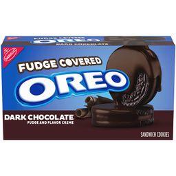Oreo Dark Chocolate Fudge Covered Sandwich Cookies, Dark Chocolate Flavored Creme, 1 Pack (9oz.),...   Walmart (US)