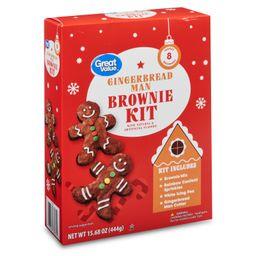 Great Value Gingerbread Man Brownie Kit, 15.68 oz - Walmart.com   Walmart (US)