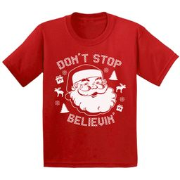 Awkward Styles - Awkward Styles Don't Stop Believin' Christmas Shirts for Kids Santa Claus Funny ...   Walmart (US)