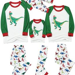 Hirigin - Matching Family Christmas Pajamas Set Women Men Kids Letter Printed Tops Plaid Pants Di...   Walmart (US)