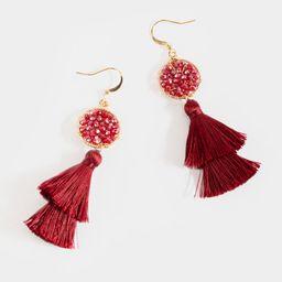 Emma Beaded Tassel Drop Earrings   Francesca's Collections