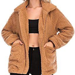 Comeon Women's Faux Fur Jacket Shaggy Jacket Winter Fleece Coat Outwear Shaggy Shearling Jacket   Amazon (US)