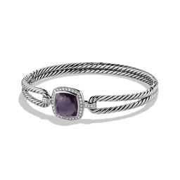 David Yurman Women's Albion Bracelet with Gemstone & Diamonds - Black Orchid - Size Medium | Saks Fifth Avenue