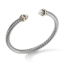 David Yurman Women's Cable Classic Bracelet with Pearl and 14K Yellow Gold/5mm - Pearl - Size Medium | Saks Fifth Avenue