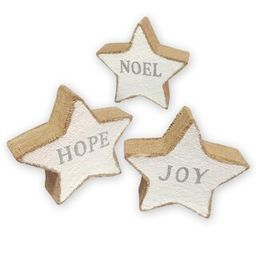 """Assorted 8"""" Silver & Snow Tabletop Burlap Star by Ashland® 