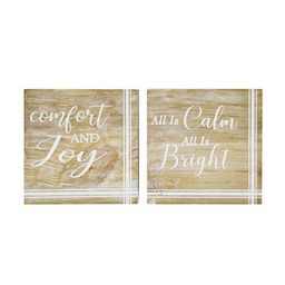 """Assorted 8"""" Christmas Tabletop Block Sign by Ashland® 