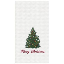 C&F Home Merry Christmas Embroidered Cotton Kitchen Towel | Target