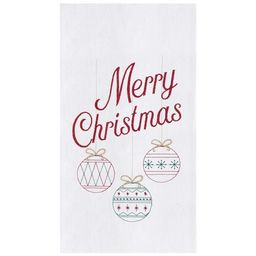 C&F Home Retro Merry Christmas Flour Sack Embroidered Kitchen Towel | Target