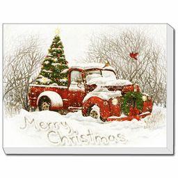 'Vintage Christmas Tree Truck' Print | Wayfair North America