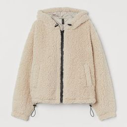 Hooded Faux Shearling Jacket   H&M (US)