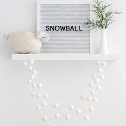 White Wool Felt Ball Garland- Nordic Christmas- White Pom Pom Garland- Winter Decoration- White o...   Etsy (US)