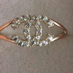 CC Chanel Designer Inspired Ring 10K Gold   Etsy   Etsy (US)