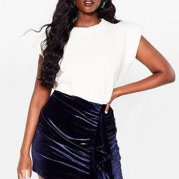 Can You Feel It Plus Velvet Mini Skirt | NastyGal (US & CA)