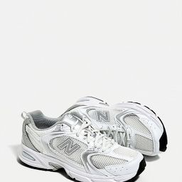 New Balance 530 White & Silver Trainers   Urban Outfitters (EU)