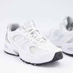New Balance 530 metallic trainers in white   ASOS (Global)