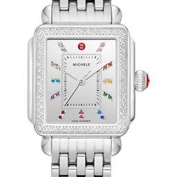 Women's Michele Deco Carousel Diamond Watch Head, 33mm X 35mm   Nordstrom