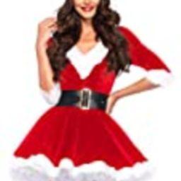 Leg Avenue Women's 2 Pieces Mrs. Claus Costume, Red/White,Medium/Large | Amazon (US)